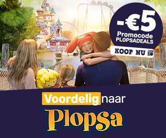 Plopsa.be BENL- WEBDEALS - €7 KORTING (07/09 - 25/10)