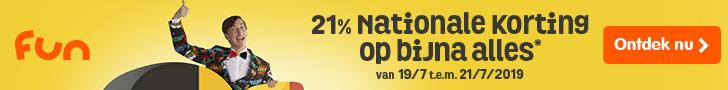 21% Nationale Korting op bijna alles