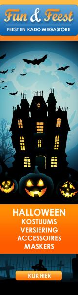 Halloween kostuums en versiering