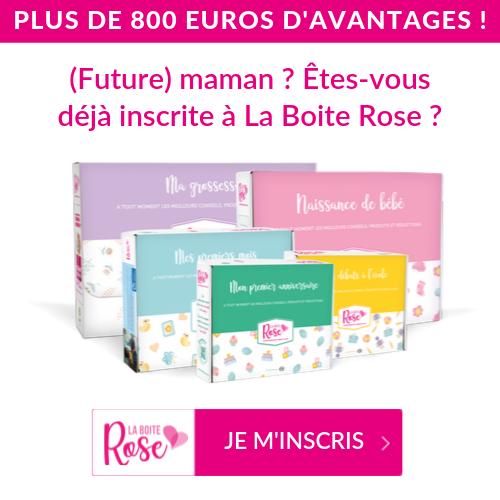 Vous êtes enceinte ou vous avez acchouché récemment ? Inscrivez-vous au programma La Boîte Rose !