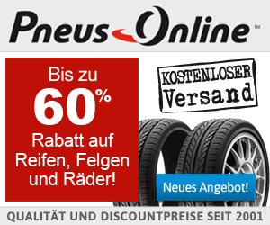 Pneus: Bis zu 60% Rabatt auf Reifen, Felgen und Räder!