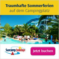Sommerferien auf dem Campingplatz mit Suncamp holidays