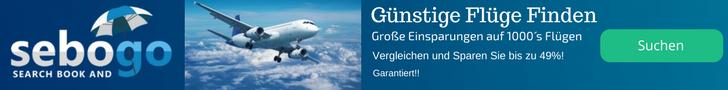 Sebogo.de, die beste Seite um Flugpreise zu vergleichen.