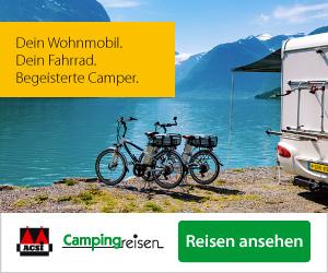Campingreisen mit Fahrrad und Wohnmobil