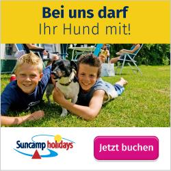 Camping mit Hund bei Suncamp holidays