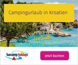Urlaub auf dem Campingplatz in Kroatien