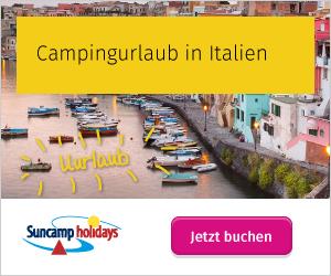 Urlaub auf dem Campingplatz in Italien