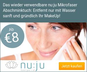 Sanft Abschminken - nur mit Wasser! Das nu:ju Gesichtsreinigungstuch aus Mikrofaser