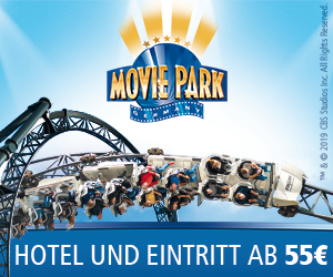 Movie Park Holidays - Hotel + 2 Tage Eintritt ab 55 € pro Person!