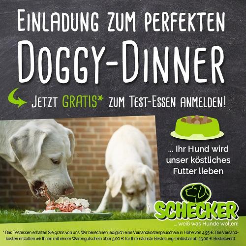 Einladung zum perfekten Doggy-Dinner