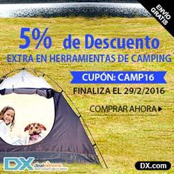 5% de descuento en herramientas de Camping en DX