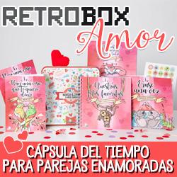 Cápsula del tiempo para parejas enamoradas Retrobox Amor