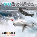JYU HornetS Racing GPS cuadricóptero RC de 12MP cámara HD con gafas