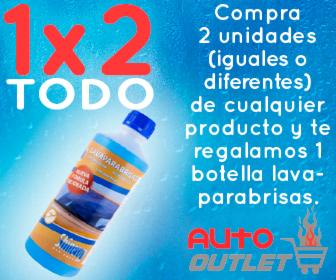Compra 2 unidades (iguales o diferentes) de cualquier producto y te regalamos 1 botella lava-parabrisas.