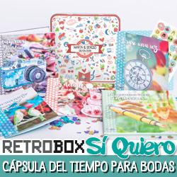 Retrobox Sí Quiero: cápsula del tiempo para bodas