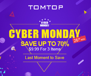 Cyber Monday : Save Up To 70% on tomtop.com