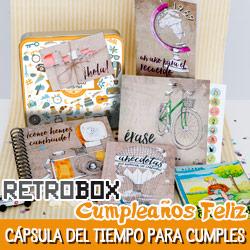 Cápsula del tiempo para cumpleaños Retrobox