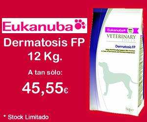 PEUKANUBA DERMATOSIS FP 12 KG. recio anterior 79,65€ AHORA 45,55€