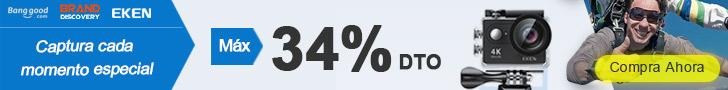 Al máximo 34% de DTO. para Eken Cámara