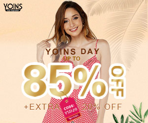 up to 85% off + extra 20% off ,Yoins day