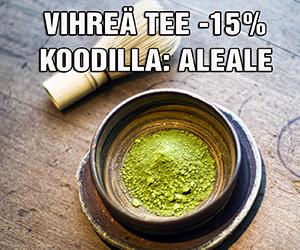 Kaikki vihreä tee ja Matcha nyt -15% ALE-hintaan koodilla: ALEALE . Tutustu valikoimaan ja tilaa heti!