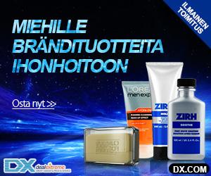 Miehille brändituotteita ihonhoitoon