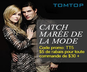 Catch marée de la mode Code promo: TT5 $5 de rabais pour toute commande de $30 +