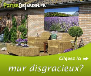 La monotonie de votre mur de jardin vous désole ?