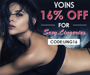 16% DE RÉDUCTION POUR LES LINGERIES SEXY