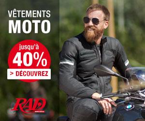 Maintenant minimum 20% de remise sur tous les vestes moto, pantalons moto et bottes moto