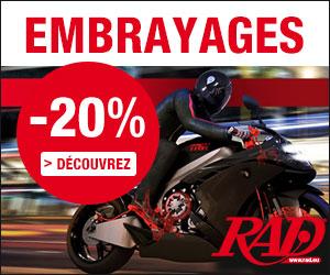 20% de remise sur embrayages moto