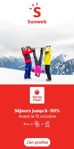 50% de réduction sur les séjours Ski