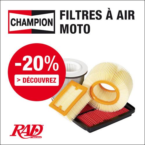 20% de remise sur filtres à air pour motos