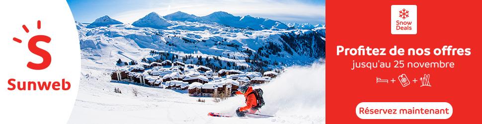 50% de réduction sur une selection d'offres ski