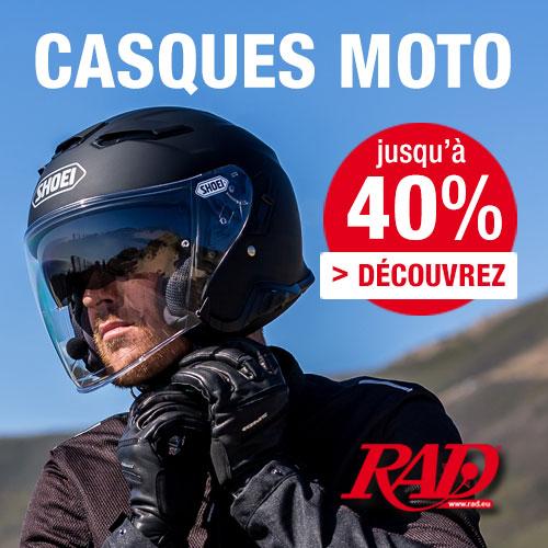 BLACK WEEK: 25% de remise sur TOUS vêtements moto, casques moto et accessoires moto