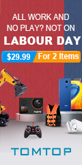 TomTop : Labour Day Promotion, Up to 80% Off !!