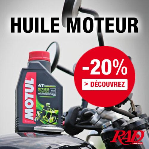 20% de remise sur huile moteur pour motos