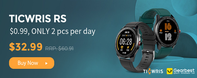 TICWRIS RS Smart Watch & Get One Strap Free