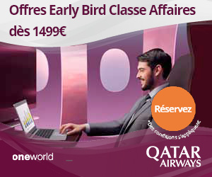 Early Bird classe affaire dès 1499€