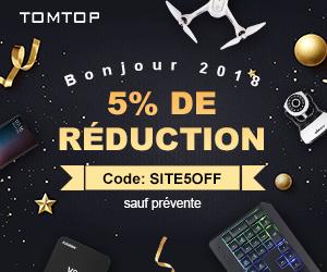 Bonjour 2018 5% de réduction Code: SITE5OFF sauf prévente
