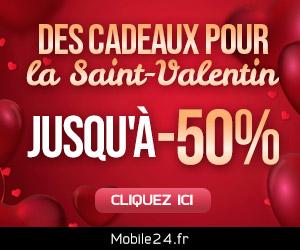 IDÉES CADEAUX pour la Saint-Valentin - jusqu'à 50% de réduction