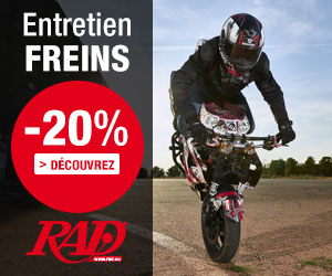 20% de remise sur plaquettes et disques de frein pour motos
