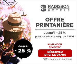 Promotion 25% de réductionRadisson Djerba