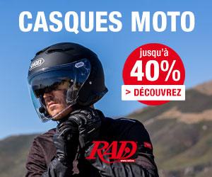 Promotions de Casques moto, Visières et Pinlocks, Lunettes et Masques, Communication, …