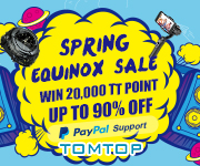TOMTOP : Spring Sale, Up to 90% Off