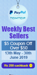 Tomtop : Weekly Best Sellers, $5 Coupon Off Over $50
