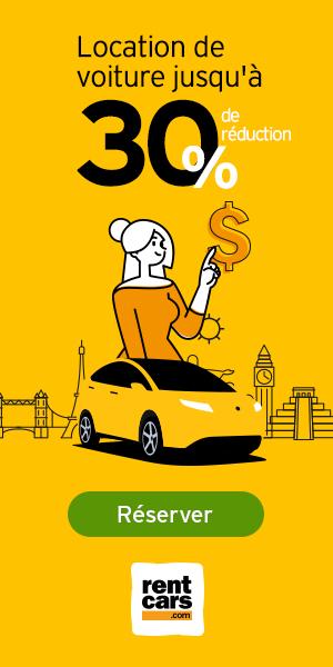 Location de voiture jusqu'à 30% de réduction