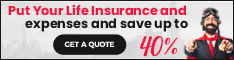 Put your life insurance on expenses and save up to 40%