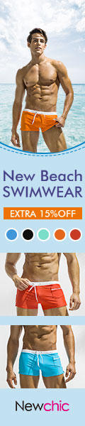 15% Off Men's Swimwear New Arrival at New Chic