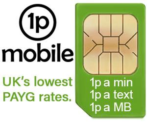 1pMobile - UK's cheapest PAYG tariff